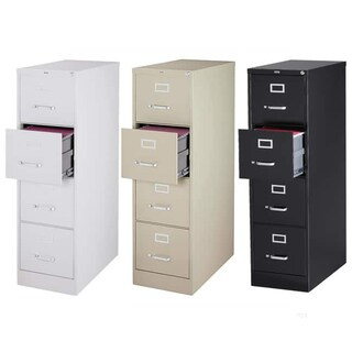 "Hirsh 25"" Deep 4-drawer Letter-size Commecial Vertical File Cabinet"