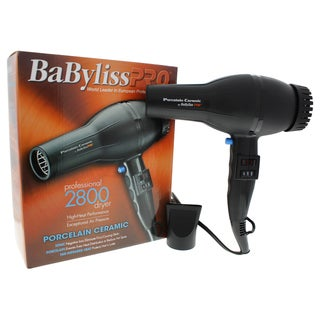 BaBylissPRO BABP2800 Black Porcelain Ceramic 2000-Watt Dryer