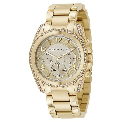 Michael Kors Women's MK5166 Blair Goldtone Stainless Steel Chronograph Watch - GOLD