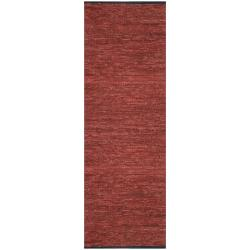 Hand-woven Matador Copper Leather Rug (2'6 x 12')