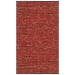 Hand-woven Matador Copper Leather Rug (4' x 6')
