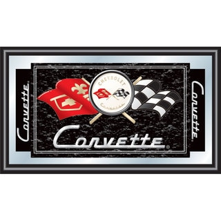 Black Corvette C1 Framed Mirror