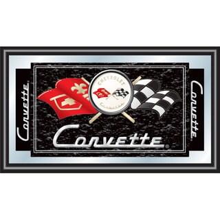 Black Corvette C1 Framed Mirror