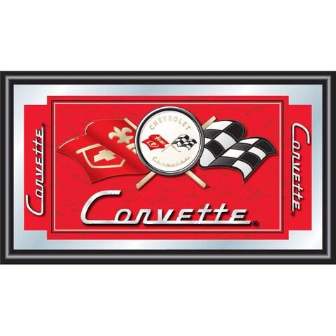 Red Corvette C1 Framed Mirror