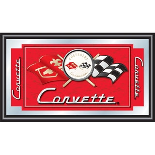 Red Corvette C1 Framed Mirror