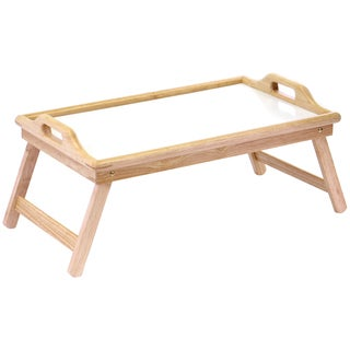 Winsome White/ Natural Flip Top Bed Tray