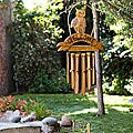 Bamboo Owl Welcome Wind Chime (Indonesia)