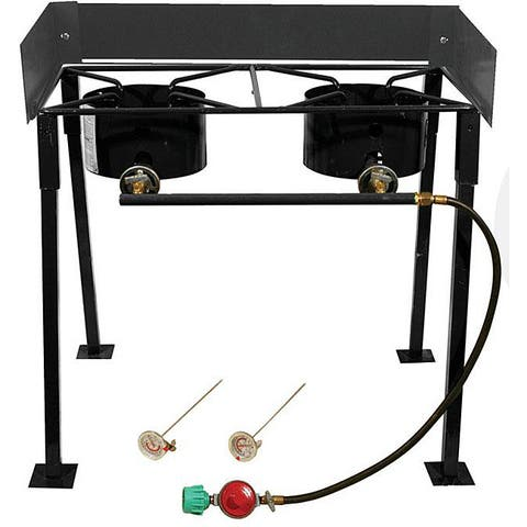 King Kooker 25-inch Portable Double Burner Camp Stove