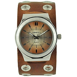 Nemesis Men's Classico Brown Leather Band Watch