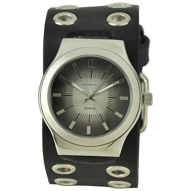Nemesis Men's Classico Black Leather Band Watch (Watch), ...