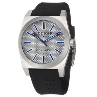 Locman Men's 'Sport' Stainless Steel and Black Rubber Quartz Date Watch with Blue Markers|https://ak1.ostkcdn.com/images/products/5862672/Locman-Mens-Sport-Stainless-Steel-and-Black-Rubber-Quartz-Date-Watch-with-Blue-Markers-P13574133.jpg?impolicy=medium