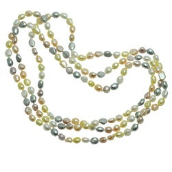 Pearls for You Multi-colored Pastel FW Pearl Endless Necklace (8-9 mm)