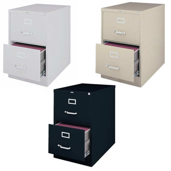hirsh 26.5-inch deep 2-drawer legal-size commercial vertical file