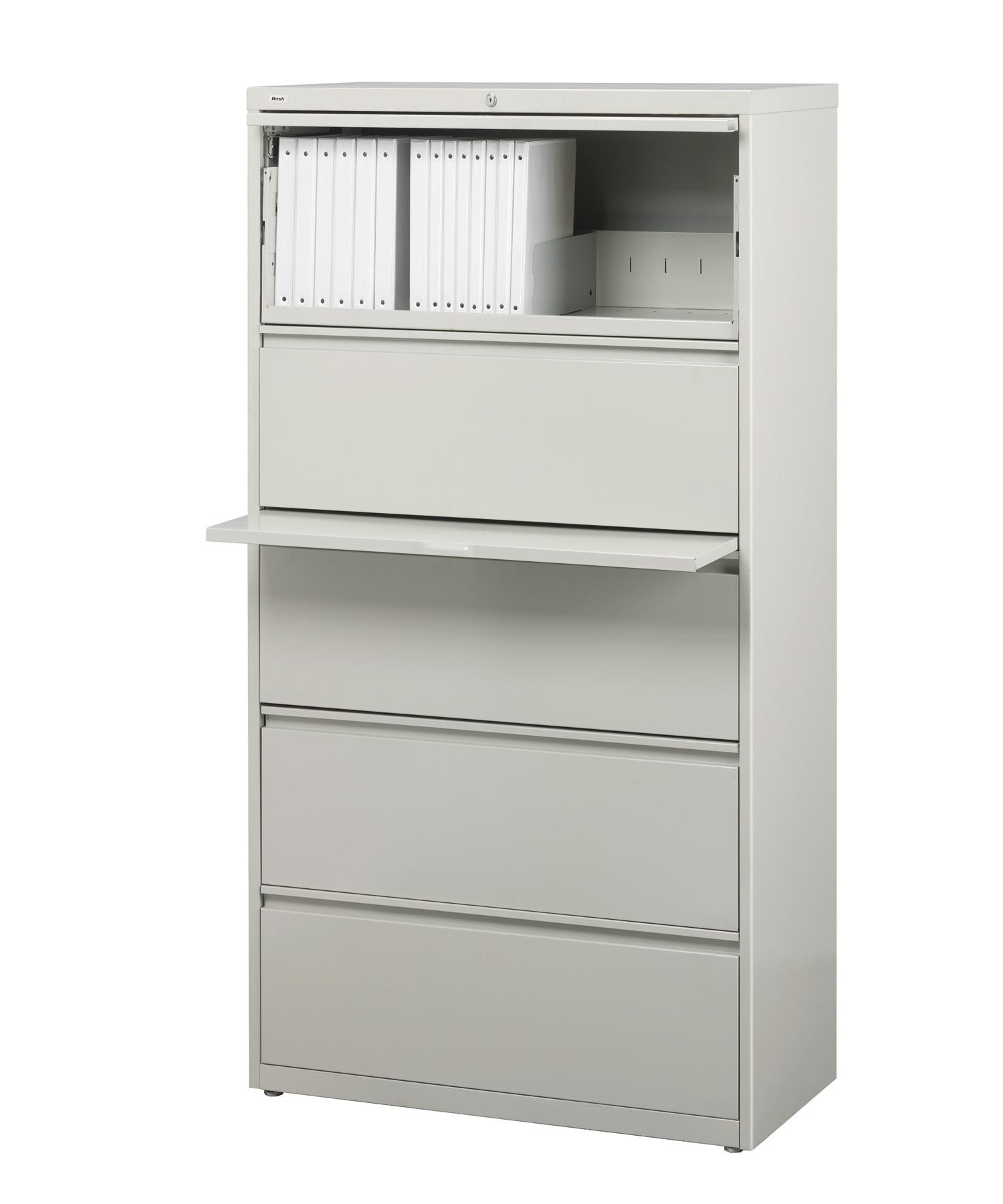 Five Drawer Filing Cabinet Hirsh Hl10000 Series 5 Drawer Commercial Lateral File Cabinet