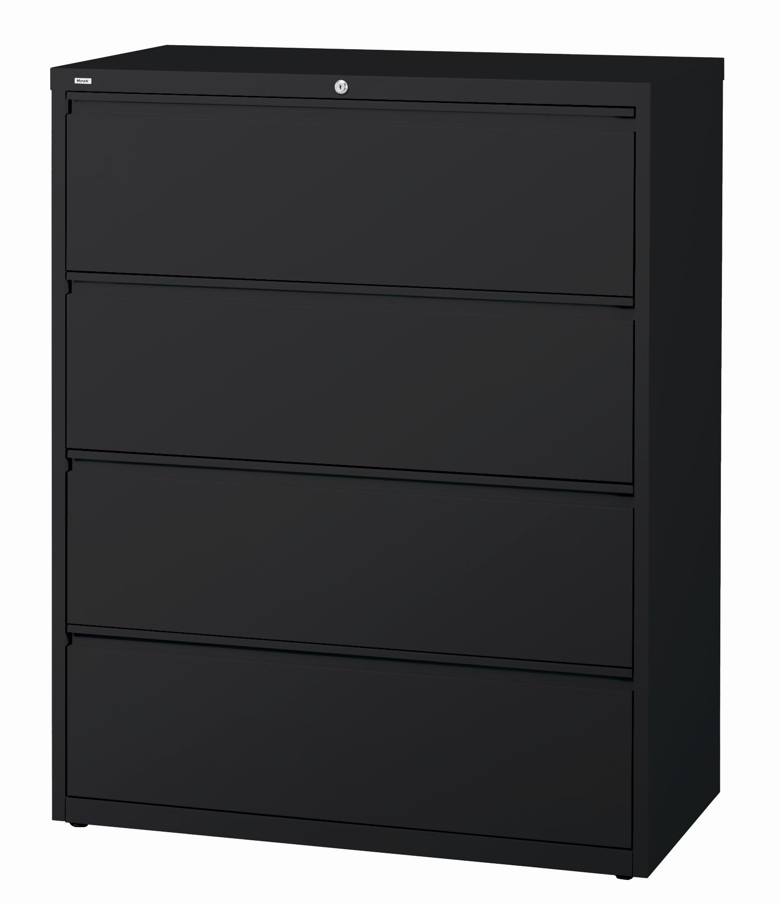 Hirsh HL10000 Series 42-inch Wide 4-drawer Commercial Lateral File Cabinet - Thumbnail 1