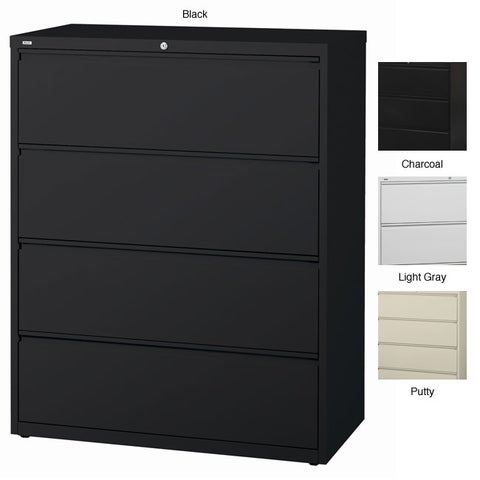 Hirsh HL10000 Series 42-inch Wide 4-drawer Commercial Lateral File Cabinet