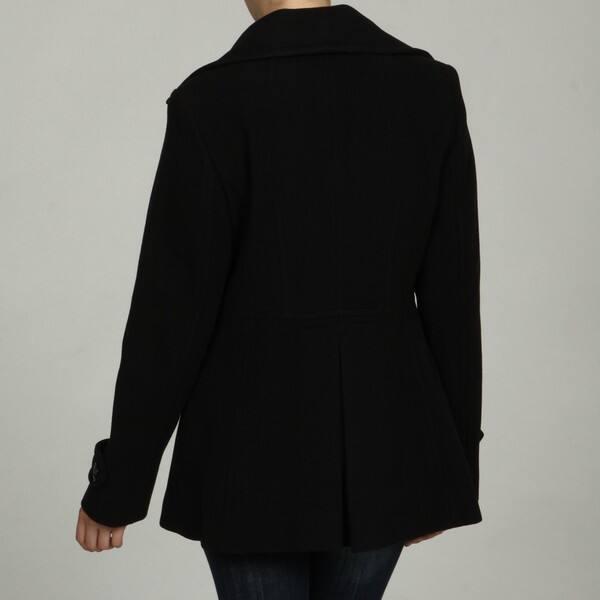 631dfcf89 Shop London Fog Women's Wool Blend Pea Coat - Free Shipping On ...
