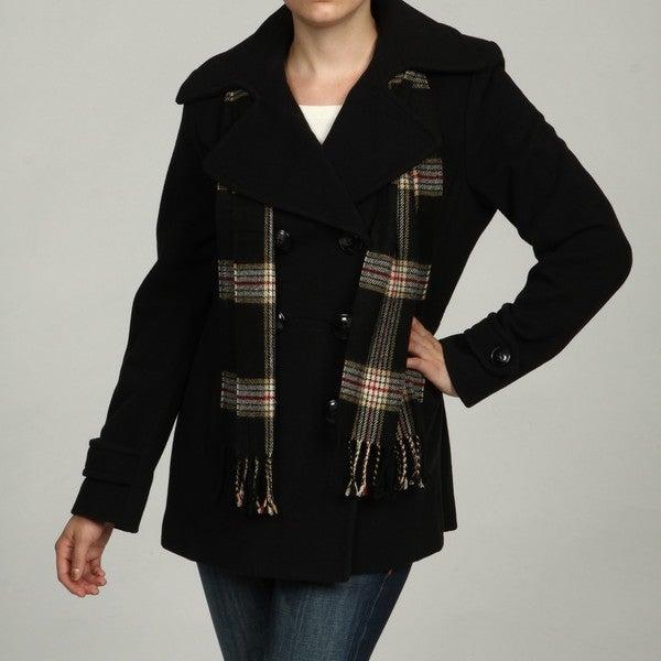 London Fog Women's Wool Blend Pea Coat