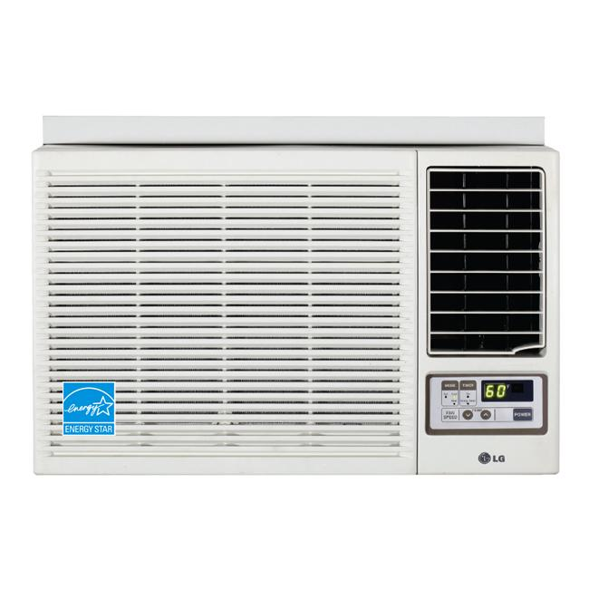 shop lg 7 000 btu heat and cool window air conditioner with remote refurbished free shipping. Black Bedroom Furniture Sets. Home Design Ideas