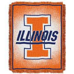 Northwest Illinois Fighting Illini Focus Jacquard Throw - Thumbnail 1