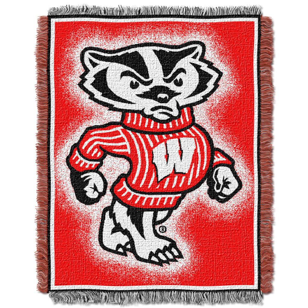 Northwest Wisconsin Badgers Focus Jacquard Throw