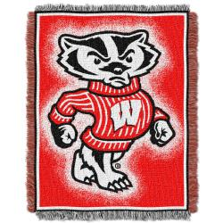 Northwest Wisconsin Badgers Focus Jacquard Throw - Thumbnail 1