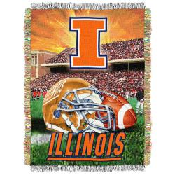 Northwest Illinois Fighting Illini Homefield Tapestry Throw
