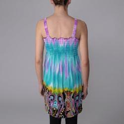Happie Brand Juniors Paisley Print Tie-dye Sundress - Thumbnail 1