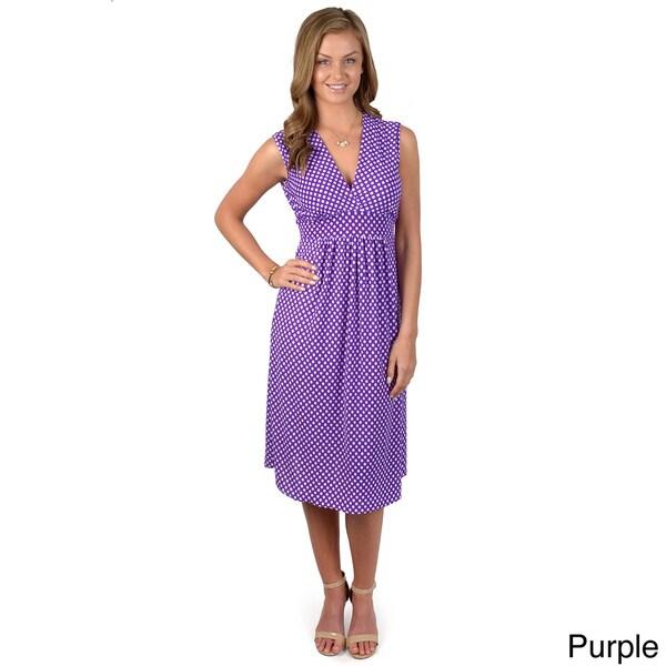 Happie Brand Junior's Sleeveless V-neck Dress