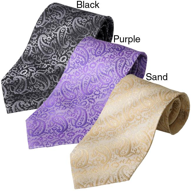 Boston Traveler Men's Paisley Pattern Tie Hanky Set