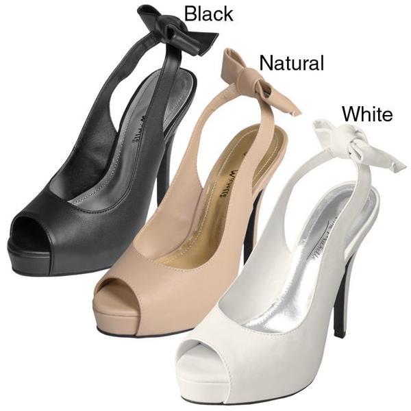 Journee Collection Women's 'Verdict-16' Peep-toe Slingback Stilettos