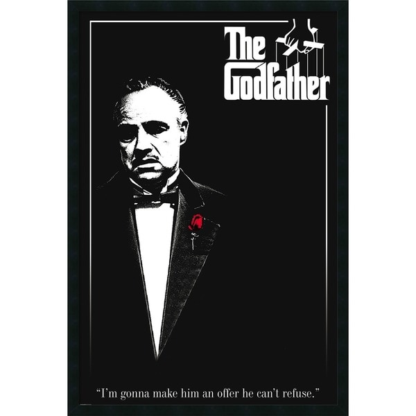 'Godfather - Red Rose' 25 x 37-inch Framed Art Print with Gel Coated Finish
