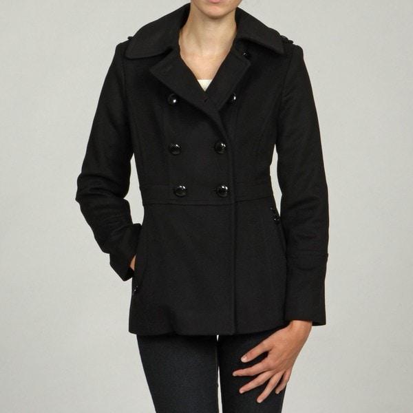 MICHAEL Michael Kors Women's Black Double Breasted Coat