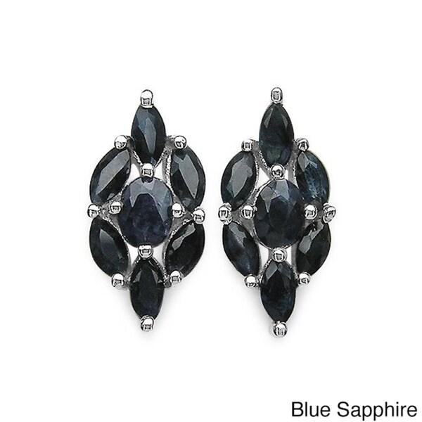 Malaika Sterling Silver Gemstone Earrings