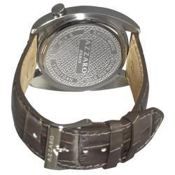 Azzaro Men's 'Seventies' Grey Dial Green Strap Small Second Watch - Thumbnail 1
