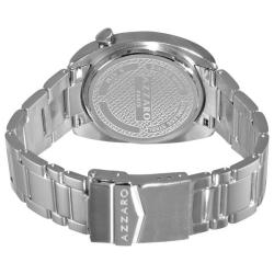Azzaro Men's 'Seventies' Stainless Steel Bracelet Small Second Watch - Thumbnail 1