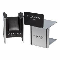 Azzaro Men's 'Seventies' Grey Dial Black Strap Small Second Watch