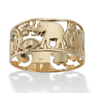Link to Good Luck Ring in 14k Gold Tailored Similar Items in Men's Jewelry