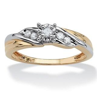 Diamond Two-Tone Ring in 10k Yellow Gold