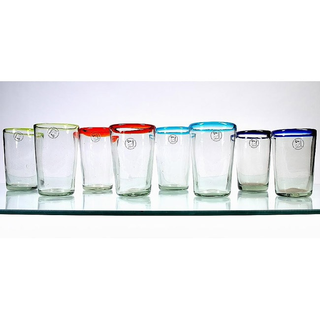 Mouth-blown 19-oz Baja Highball Glasses (Set of 8)