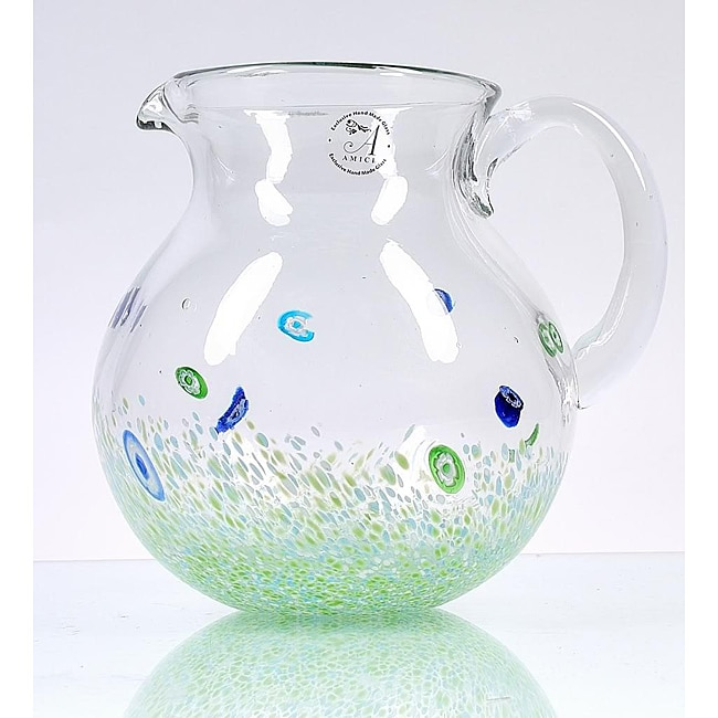 Monet Green Pitcher