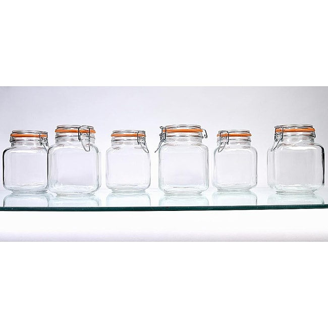 Borgonovo Hermetic 58-oz Jars (Pack of 6)