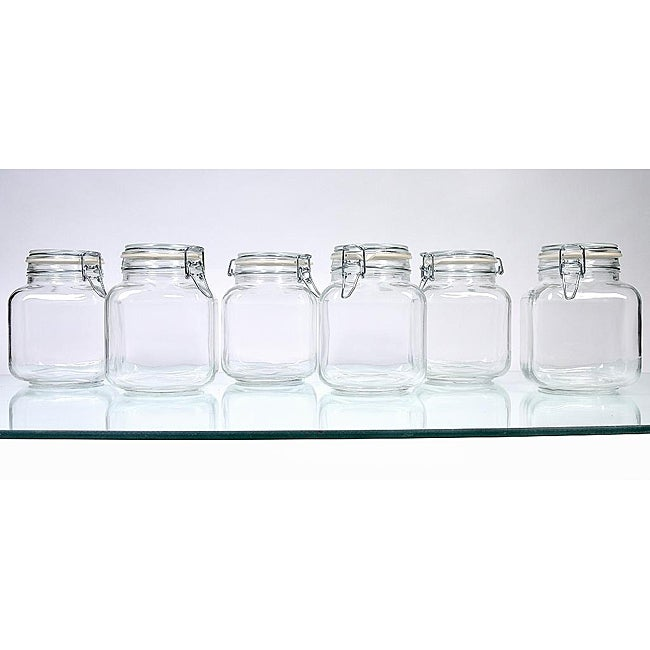 Borgonovo Hermetic 68-oz Jars (Pack of 6)