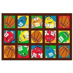 M&M's Basketball Party Rug (1'7 x 2'5)
