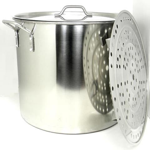 Prime Pacific 100-quart Heavy Duty Stainless Steel Stock Pot and Steamer Tray