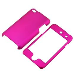 INSTEN Snap-on Hot Pink Rubber-coated iPod Case Cover for Apple iPod touch 4th Gen