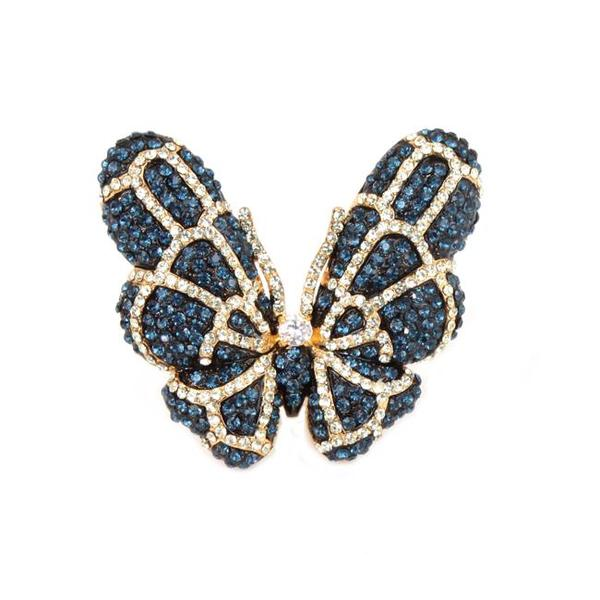 NEXTE Jewelry Papillion Blue Butterfly Ring