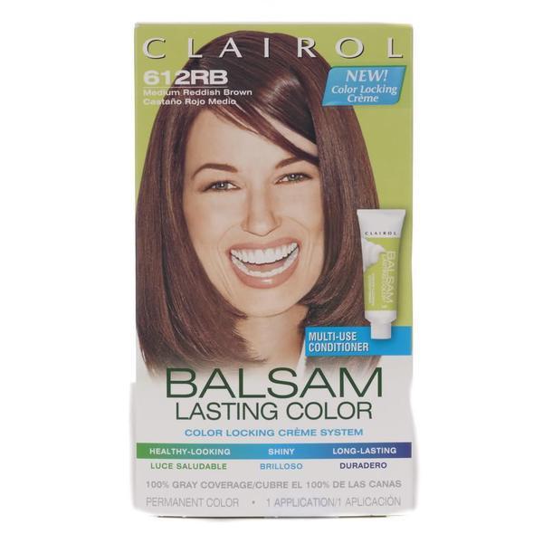 Clairol Balsam Lasting Color #612RB Medium Reddish Brown Hair Color (Pack of 4)