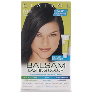 Clairol Balsam Lasting Color #618 Black Hair Color (Pack of 4)