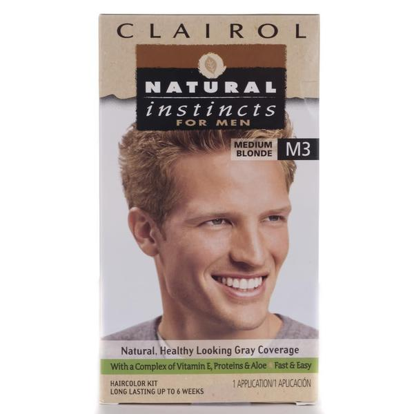 Clairol Natural Instincts Men's #M3 Medium Blonde Hair Color (Pack of 4)